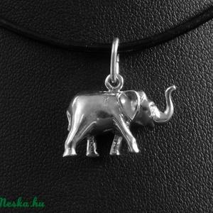 Elefánt  ezüstmedál - szerencsét hoz! (varabin) - Meska.hu