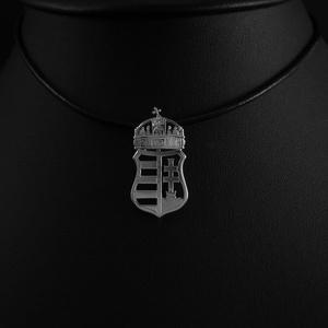 Koronás címer medál nagy, Ékszer, Nyaklánc, Medál, Ékszerkészítés, Ötvös, Volt szerencsém pár előadást hallgatni, amely a Magyar Címerről szólt. Emlékszem vitákra arról, hogy..., Meska