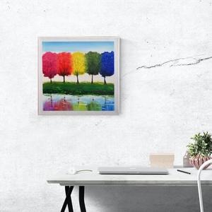 Harmóniában a természettel, Művészet, Festmény, Akril, Festészet, Akril festmény,\necsettel festett és knife technika,\nfakeretes feszített vászon,\n30 cm x 30 cm, Meska