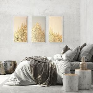 Aranyhegyek, Művészet, Festmény, Festmény vegyes technika, Festészet, Akril festmények,\necsettel festett 3D technika,\nstruktúrpasztával kiemelve,\naranyfüsttel díszítve,\no..., Meska