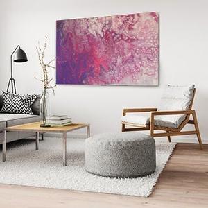 Pink boobee, Művészet, Festmény, Akril, Festészet, Bevonzza az univerzum pozitív energiáit, segít a fejlődésben.\n\nAkril festmény,\nfolyásos (pouring) te..., Meska