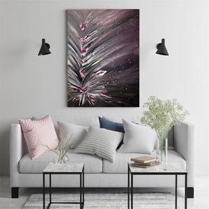 Gladiolus, Művészet, Festmény, Akril, Festészet, Akril festmény,\nfolyásos (pouring) technika,\necsettel festett,\noldalain is festett fakeretes feszíte..., Meska