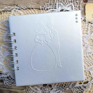 Exkluzív Esküvői vendégkönyv , Esküvő, Emlék & Ajándék, Vendégkönyv, Könyvkötés, Papírművészet, Ha valami igazán különleges vendégkönyvet keresel a nagy napra, ajánlom ezt az egyedi méretű és kész..., Meska