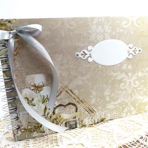 Elegáns Esküvői vendégkönyv A5 - Fotóalbum , Esküvő, Emlék & Ajándék, Vendégkönyv, Könyvkötés, Papírművészet, Ha valami igazán különleges vendégkönyvet keresel a nagy napra, ajánlom ezt az elegáns hangulatú ven..., Meska