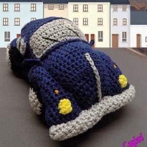 Horgolt VW Bogár autó , Játék, Baba-mama-gyerek, Plüssállat, rongyjáték, Játékfigura, Horgolás, Sok-sok szeretettel és aprólékos munkával  készítettem ezt a kedves VW Bogár autót!Ha megtetszett s..., Meska