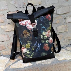 Fekete   ROLL UP HÁTIZSÁK ,MŰBŐR hátizsák,hátitáska, Táska, Táska, Divat & Szépség, Hátizsák, Varrás, \n\nMérete tökéletes, mivel minden elfér benne, amire szükséged lehet:)\nA hátizsák magassága:40-58cm  ..., Meska
