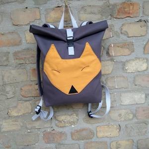 Rókás  roll up hátizsák, Hátizsák, Hátizsák, Táska & Tok, Varrás, Hímzés, Szuper aranyos rókás hátizsák. \n2 méretben tudod megrendelni.A kisebb méret gyerekeknek is tökéletes..., Meska