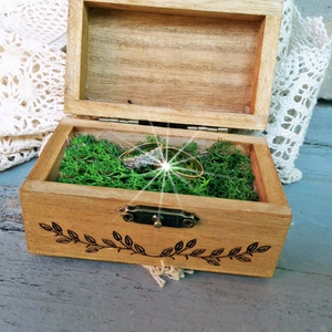 Vintage, rusztikus, esküvői gyűrűtartó doboz fából ,személyre szabva, Esküvő, Kiegészítők, Gyűrűtartó & Gyűrűpárna, Festett tárgyak, Meska