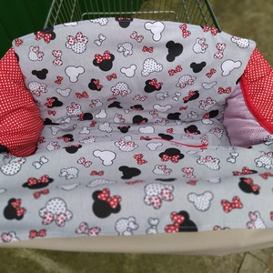 Bevásárlókocsi huzat Minnie masnival - játék & gyerek - 3 éves kor alattiaknak - bevásárlókocsi huzat - Meska.hu