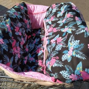 Bevásárlókocsi huzat Famingók rózsaszinnel - játék & gyerek - 3 éves kor alattiaknak - bevásárlókocsi huzat - Meska.hu