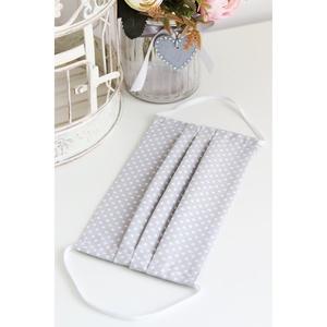 Arcmaszk szűrőtartóval szájmaszk dupla rétegű 100% pamut mosható vasalható újra használható, puha gumival szürke pöttyös, Táska, Divat & Szépség, Férfiaknak, Szépség(ápolás), Maszk, szájmaszk, Fürdőszobai kellék, Arcmaszk szűrőtartóval, szájmaszk dupla rétegű magas minőségű 100% pamut virág- és egyéb mintás pamu..., Meska