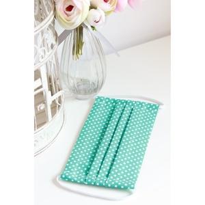 Arcmaszk szűrőtartóval szájmaszk dupla rétegű 100% pamut mosható vasalható újra használható, puha gumival türkiz pöttyös, Gyerek & játék, Táska, Divat & Szépség, Baba-mama kellék, Szépség(ápolás), Maszk, szájmaszk, Fürdőszobai kellék, Arcmaszk szűrőtartóval, szájmaszk dupla rétegű magas minőségű 100% pamut virág- és egyéb mintás pamu..., Meska