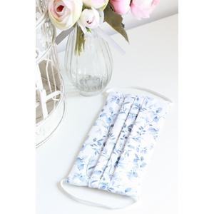 Arcmaszk szűrőtartóval szájmaszk dupla rétegű 100% pamut mosható vasalható újra használható, puha gumival fehér-kék, Táska, Divat & Szépség, Esküvő, Menyasszonyi ruha, Szépség(ápolás), Maszk, szájmaszk, Ruha, divat, Varrás, Arcmaszk szűrőtartóval, szájmaszk dupla rétegű magas minőségű 100% pamut virág- és egyéb mintás pamu..., Meska