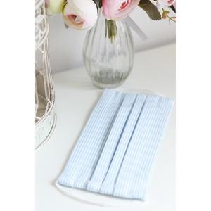 Arcmaszk szűrőtartóval szájmaszk dupla rétegű 100% pamut mosható vasalható újra használható, puha gumival kék csíkos, Táska, Divat & Szépség, Szépség(ápolás), Fürdőszobai kellék, Maszk, szájmaszk, Esküvő, Hajdísz, ruhadísz, Varrás, Arcmaszk szűrőtartóval, szájmaszk dupla rétegű magas minőségű 100% pamut virág- és egyéb mintás pamu..., Meska