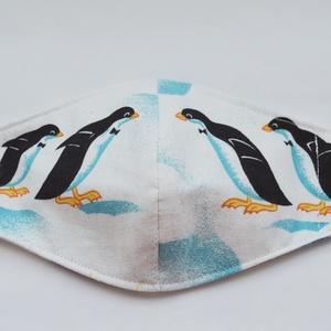 Arcmaszk - felnőtt méretben, pingvines mintával 2., Maszk, Arcmaszk, Gyerek, Varrás, Meska