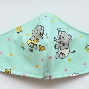 Arcmaszk - gyerek méretben, elefántos mintával - Meska.hu
