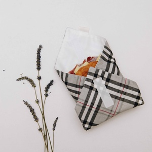 Újraszalvéta - Szürke, NoWaste, Textilek, Varrás, Zero waste újraszalvéta, a szendvicsrajongók környezetkímélő alternatívája!\n\nKülső rétege mintás pam..., Meska