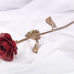 Kovácsoltvas ékszer rózsa, Csokor & Virágdísz, Dekoráció, Otthon & Lakás, Kovácsoltvas, Kovácsoltvas ékszer rózsa - A mindennapok legszebb ajándéka!\nEgy új generációs ajándék, mely a klass..., Meska