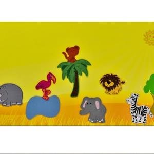 Szavanna állatai - 10 db mágneses játékfigura + 1 db fémtábla, Szerepjáték, Játék & Gyerek, Hímzés, Mindenmás, Kollekciónk egyik kis csomagja a SZAVANNA állatait tartalmazza - 10 db- és egy 40 cm x 80 cm méretű ..., Meska