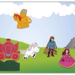 Királylány kollekció -10 darab mágneses játék + 1 db fémtábla, Szerepjáték, Játék & Gyerek, Hímzés, Mindenmás, Kollekciónk egyik csomagja a KIRÁLYSÁG kategória 10 figuráját tartalmazza ( balerina, virágos  domb,..., Meska