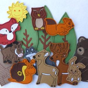 Erdő kollekció - 15 db mágneses játék, Játék & Gyerek, Szerepjáték, Kollekciónk egyik csomagja az ERDŐ melyben az alábbi figurák találhatóak meg : bagoly, csiga, farkas..., Meska