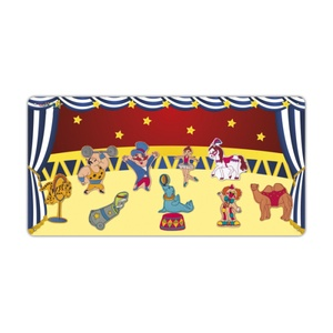 Cirkusz kollekció - 10 db mágneses játék + fémtábla, Szerepjáték, Játék & Gyerek, Hímzés, Mindenmás, Kollekciónk egyik csomagja ez a 10 darabból álló, CIRKUSZ csomag, melyhez tartozik egy 40 cm x 80 cm..., Meska