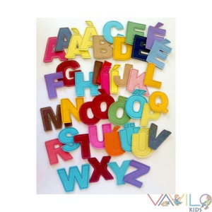 ABC - 41 db mágneses betű, Gyerek & játék, Játék, Készségfejlesztő játék, Mindenmás, Varrás, Kollekciónk egyik darabja az ABC betűit tartalmazza, amely filcből és rugalmas mágnesből készült. A ..., Meska