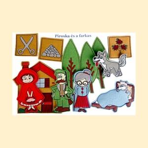 Piroska és a farkas készlet - mágneses figurák, Játék & Gyerek, Szerepjáték, Kínálatunkban most már ismert mesék figuráit is megtaláljátok., melyekkel garantált a szórakozás.   ..., Meska
