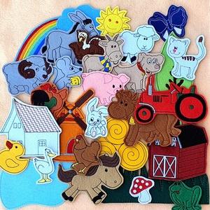 Farm kollekció - 30 db mágneses játék, Játék & Gyerek, Plüssállat & Játékfigura, Hímzés, Mindenmás, Kollekciónk egyik csomagja a FARM melyben az alábbi figurák találhatóak meg : \n( bárány, béka, cica,..., Meska