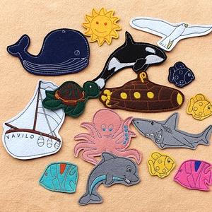 Tenger kollekció ( 15 db figura  ), Más figura, Plüssállat & Játékfigura, Játék & Gyerek, Hímzés, Mindenmás, Kollekciónk egyik csomagja a TENGER, melyben az alábbi  figurák találhatóak meg : bálna, cápa, delfi..., Meska
