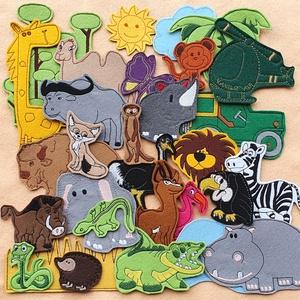 Szavanna kollekció ( 15 db figura  ), Szerepjáték, Játék & Gyerek, Hímzés, Mindenmás, Kollekciónk egyik csomagja a SZAVANNA, melyben az alábbi  figurák találhatóak meg :elefánt, flamingó..., Meska