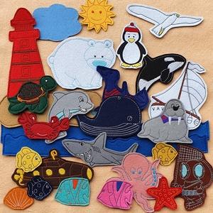 Tenger kollekció ( 30 db figura  ), Szerepjáték, Játék & Gyerek, Hímzés, Mindenmás, Kollekciónk egyik csomagja a TENGER, melyben az alábbi  figurák találhatóak meg : bálna, búvár, cápa..., Meska