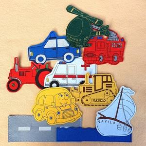 Járművek kollekció - 10 darab mágneses játék, Játék & Gyerek, Plüssállat & Játékfigura, Autó & Motor, Hímzés, Mindenmás, JÁRMŰVEK 10-es csomagunkban az alábbi mágneses játékok találhatóak meg :  ( autó, autóút, buldózer, ..., Meska