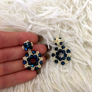 Kék swarovski fülbevaló