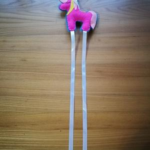 Unikornis hajcsat tartó rózsaszín türkiz színekben  (veeronik) - Meska.hu
