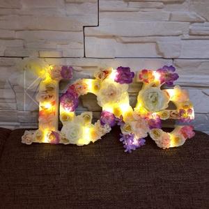 LOVE lámpa , Otthon & Lakás, Lámpa, Hangulatlámpa, Virágkötés, Különleges és romantikus dekoráció. Akár gyerekszobába, akár hálószobába vagy nappaliba mindenképp n..., Meska