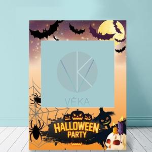 Helloween szelfi fotó keret, Farsang, Egyéb, Decoupage, transzfer és szalvétatechnika, Halloween party kellék a tökéletes fotóhoz.\n\nKét méretben kérhető: \n- 70 cm x 535 cm  \n- 100 cm x 70..., Meska