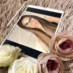 Digitális portré, Portré, Portré & Karikatúra, Művészet, Festészet, Papírművészet, Te is szeretnél magadról egy portrét, esetleg a pároddal együtt? Nagyszerű évfordulós ajándék\nSzeret..., Meska