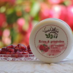 Rózsa és gránátalma 30+ bőrkisimító arckrém - normál, száraz és érett bőrre, Szépség(ápolás), Táska, Divat & Szépség, Kozmetikum, Kozmetikum készítés, 50ml\n\nEzt az arckrémet a rózsaszirmok finomsága ihlette, mely nőies és gondoskodó, lágyságot és szép..., Meska
