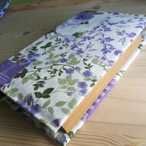 Levendulaszín rózsás könyvborító (vercs90) - Meska.hu