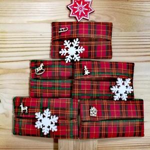 Zsepi tartó zsák, karácsonyi, Otthon & Lakás, Karácsony & Mikulás, Karácsonyi dekoráció, Varrás, Eljött az évnek az a szipogós időszaka, amikor mindig jó, ha van nálad egy csomag zsepi. Ó, jaj, hát..., Meska