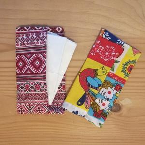Textil zsepitartó páros, Táska & Tok, Neszesszer, Varrás, Pamutvászonból varrt papírzsepi tartó, hogy ne szóródjanak szét a zsepik a táskádban :)\nAz ár 2 db t..., Meska