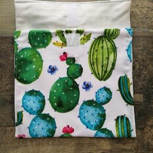 Kaktuszos szendvics bugyor, vízálló belsővel - ovi- és sulikezdés - uzsonna- & ebéd tartó - szendvics csomagoló - Meska.hu