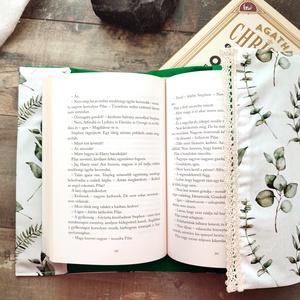 Eukaliptuszos, csipkés könyvborító - otthon & lakás - papír írószer - Meska.hu