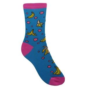 Banános-pöttyös zokni - Meska.hu