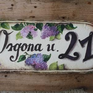 Festett Utcatábla (virágos) (verocska22) - Meska.hu