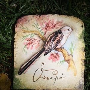Festett madaras cserepek (kicsi), Akril, Festmény, Művészet, Festett tárgyak, Úgy ahogyan a növények, az állatok is külön színvilágot hoznak az életünkbe.\nCserepeinken madarak, r..., Meska
