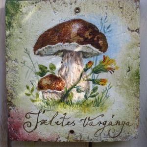 Festett gombás cserepek (kicsi), Akril, Festmény, Művészet, Festett tárgyak, Úgy ahogyan a növények, a gombák is a természet ékességei, és képeik képesek  az erdő hangulatát var..., Meska