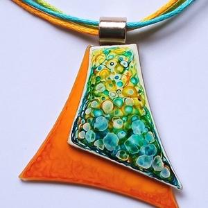 Kézzel festett üveg medál Tavasz - ékszer - nyaklánc - medálos nyaklánc - Meska.hu