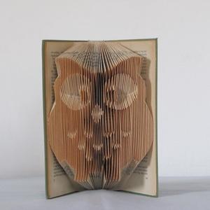 Könyvszobrászat  Bagoly 3D-s hajtogatott könyvszobor  Rendelhető!, Könyvszobor, Dekoráció, Otthon & Lakás, Papírművészet, Újrahasznosított alapanyagból készült termékek, Közeledik szeretted, ismerősöd születésnapja és  egy különleges, egyedi, maradandó ajándékot szeretn..., Meska